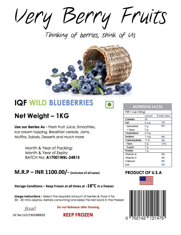 Wild Blueberry 1 KG
