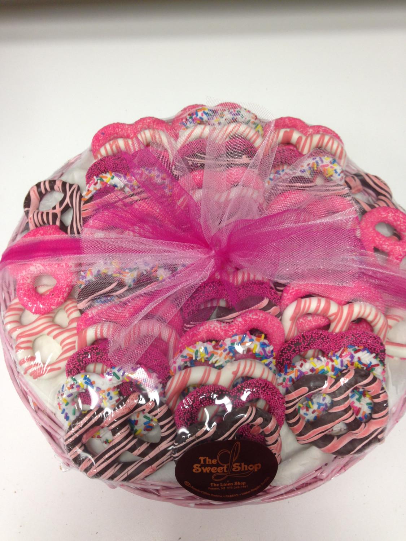 Pink Willow Pretzel Basket