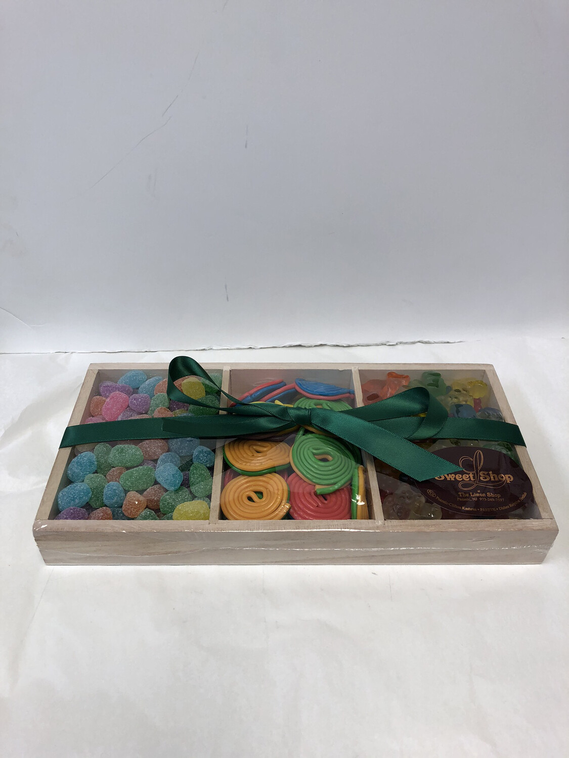 Natural Wood Compartment With Candy