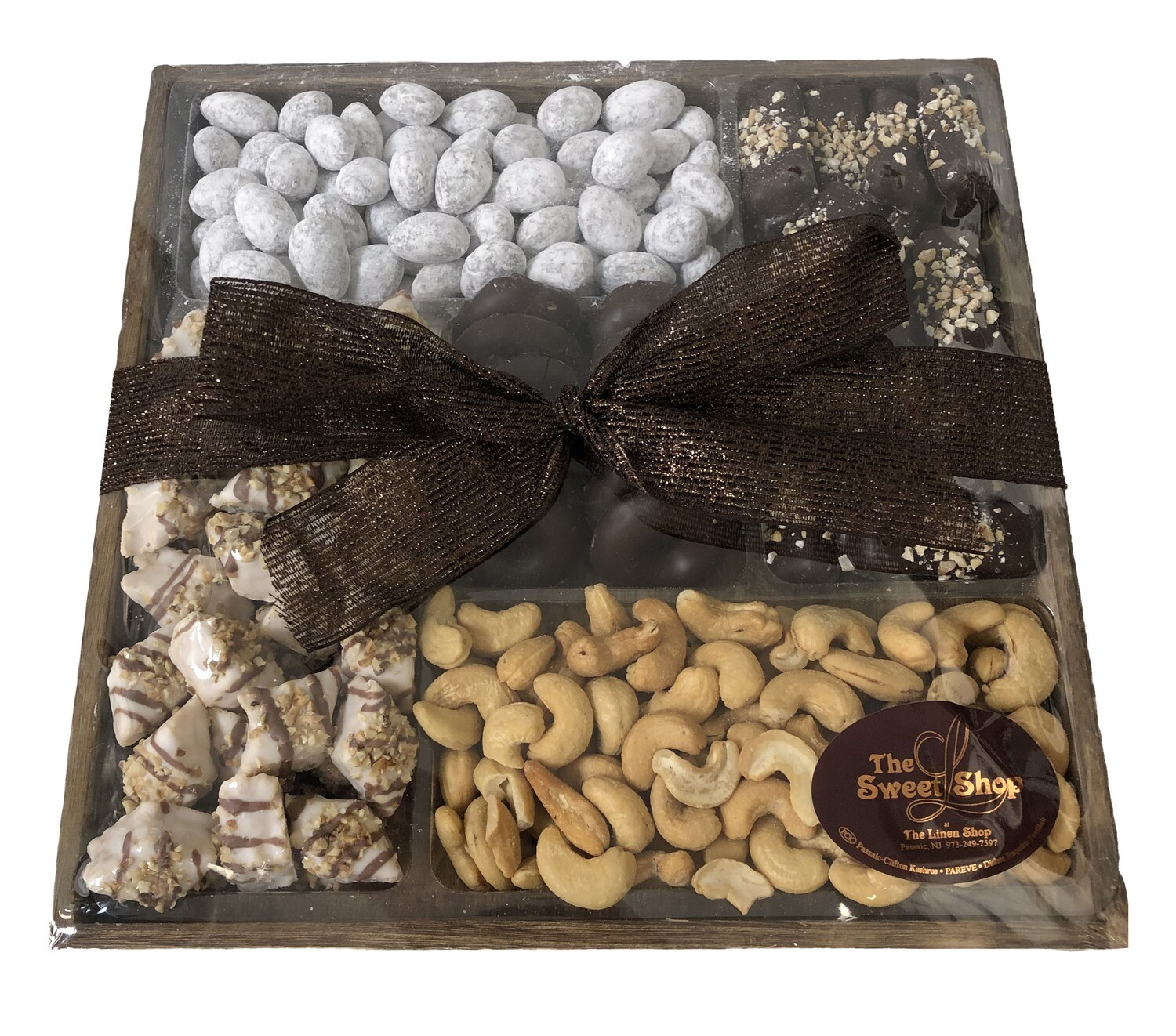 Wood 5 Section Chocolate/Nuts