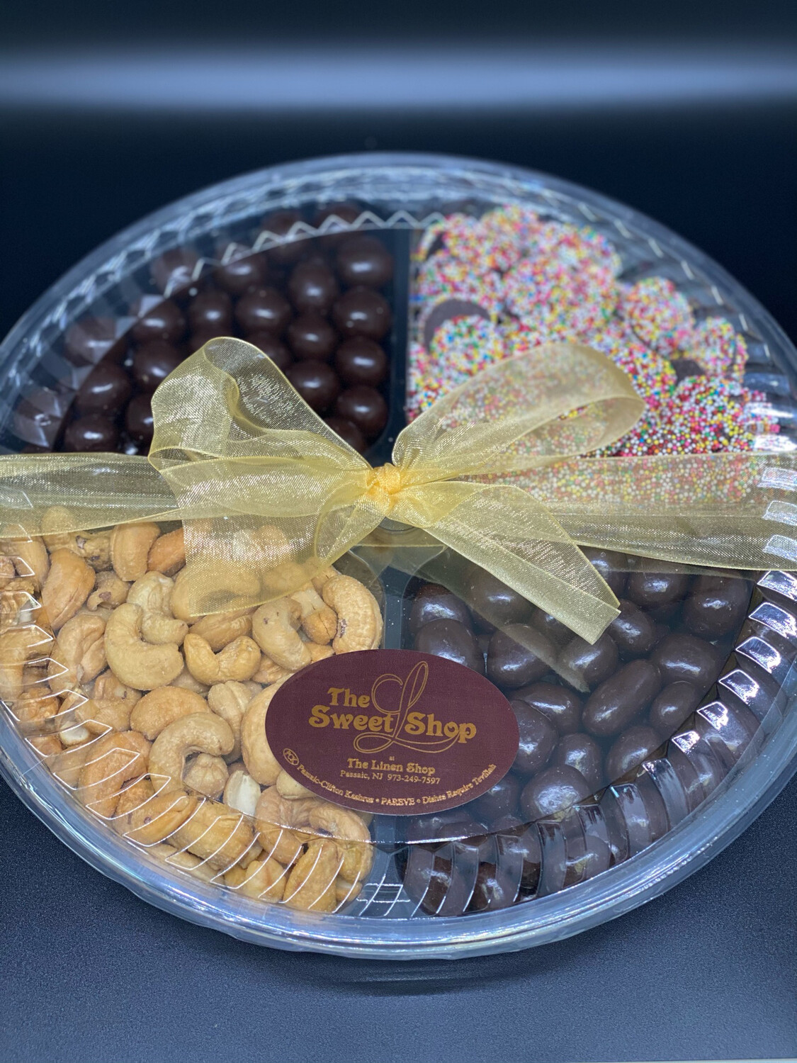 Large 4 Sectional Chocolate/Nuts
