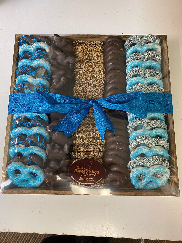 Wood Rows Blue XL