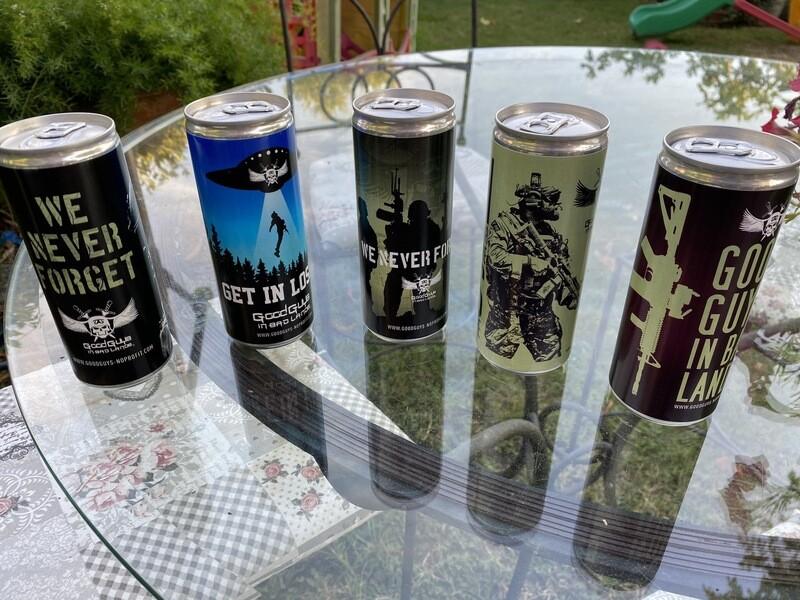 Collection Good Guys Box 5 tin cans