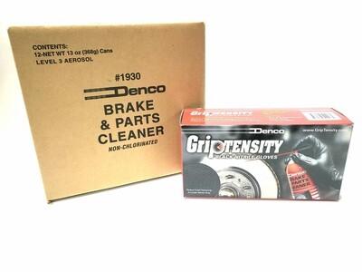 #1930G Denco Brake Cleaner 12 Pack + 1 Box of Griptensity Gloves