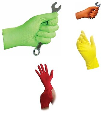 Eppco Nitrile Gloves - 6 to 7 MIL - Various Sizes and Colors - Case of 1000