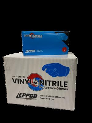 Eppco Nitrile-Vinyl Blend Gloves - 5 MIL - Blue - Case of 1000