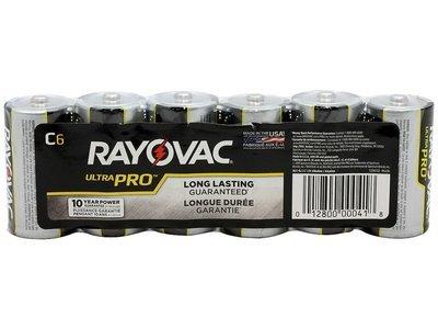 #C Rayovac C Batteries 6 Pack