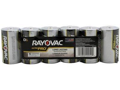 #D Rayovac D Batteries 6 Pack