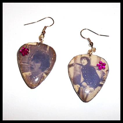 More Of The Monkees Guitar Pick Earrings