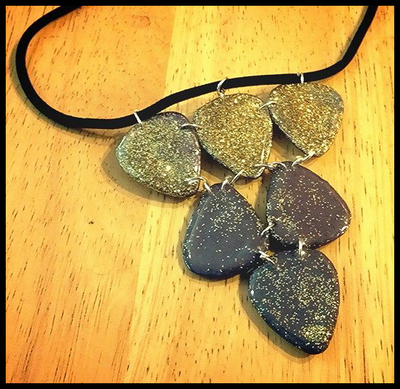 Color CHANGING Guitar Pick Necklace