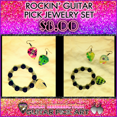 Rockin' Guitar Pick Jewelry Set