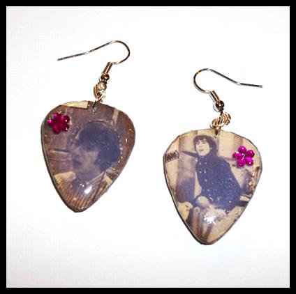 More Of The Monkees Guitar Pick Earrings