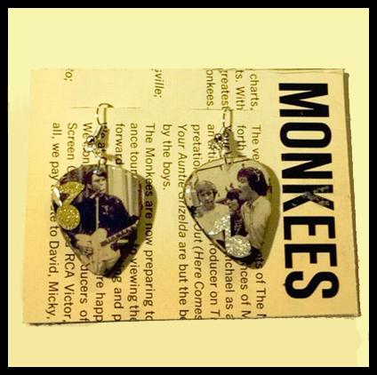 Monkees Guitar Pick Earrings