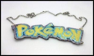 Repurposed Pokemon Purse Tag Necklace