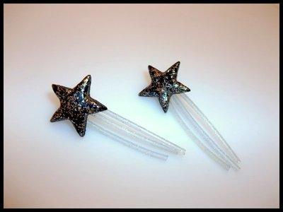 Vinyl Shooting Star Stud Earrings