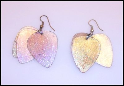 Iridescent Guitar Pick Earrings