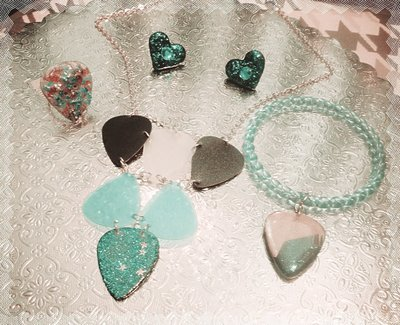 Curated Guitar Pick & Vinyl Jewelry Set