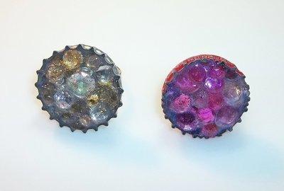 Gems Bottle Cap Rings Set
