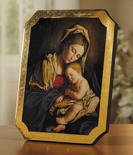Madonna And Child Marco Sevelli Florentine Plaque