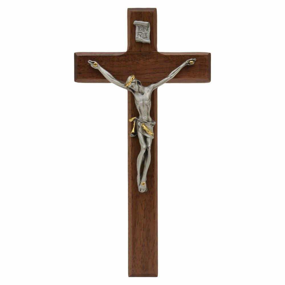 7″ Walnut Wall Crucifix