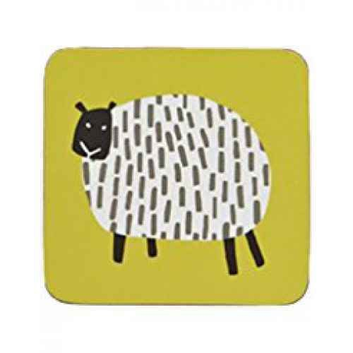 Dotty Sheep Coaster 4 Pk