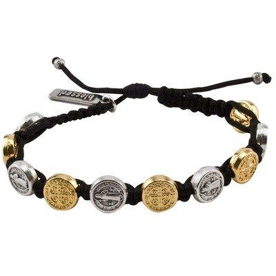 Gold & Silver Benedictine Bracelet (My Saint My Hero)