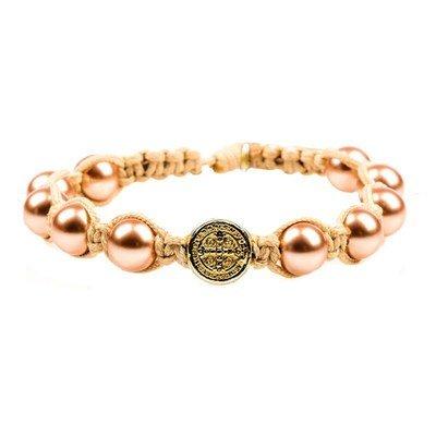 Divine Blessings Pearl Benedictine Bracelet (My Saint My Hero)