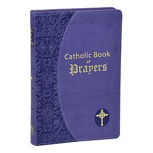 CATHOLIC BOOK OF PRAYERS-IMITATION LEATHER LAVENDER