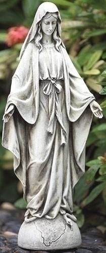 "14"" OUR LADY OF GRACE GARDEN JOSEPHS STUDIO OUTDOOR STATUE"
