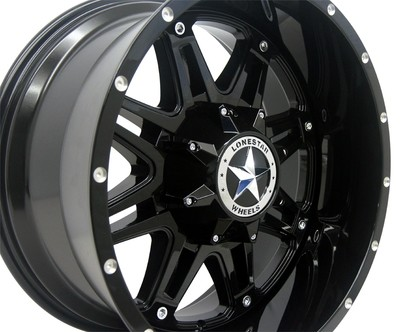 20x10 Gloss Black Outlaw Wheels (4), 5x5.5(139.7mm) & 5x150mm