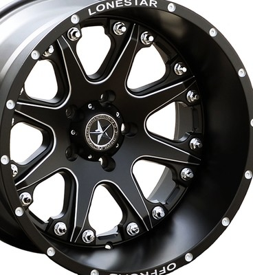 20x12 Matte Black Lonestar Bandit Wheel, 5x5.5(5x139.7mm)