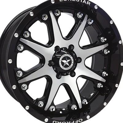 20x9 Gloss Black Bandit Wheel, 6x135mm 0mm Offset