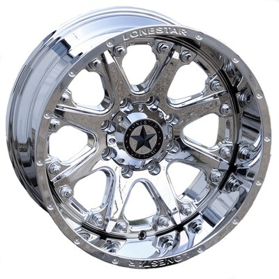 20x10 Chrome Lonestar Bandit Wheel, 8x170mm, Ford F250