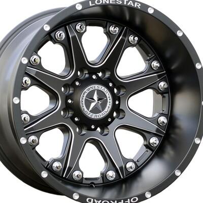 20x12 Matte Black & Milled Bandit Wheel, 8x170mm
