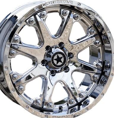 20x9 Chrome Bandit Wheel, 6x135mm 0mm Offset