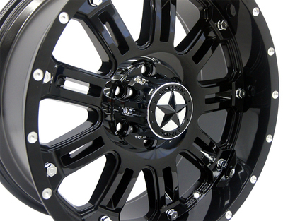 20x9 Gloss Black Lonestar Ambush Wheel, 5x5.5 (5x139.7mm) 0mm Offset