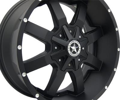 20x9 Matte Black Lonestar Gunslinger Wheel, 5x5.5 (5x139.7mm) & 5x5 (5x127mm) +18mm Offset