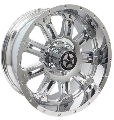 20x9 Chrome Lonestar Ambush Wheel, 5x5.5 (5x139.7mm) 0mm Offset