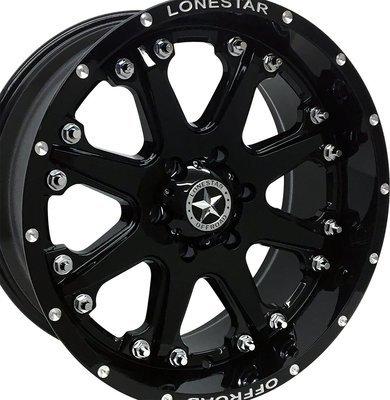 20x9 Gloss Black Lonestar Bandit Wheel, 6x135mm +13mm Offset