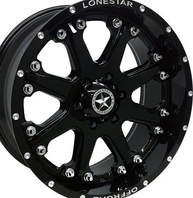 20x9 Gloss Black Lonestar Bandit Wheel, 6x5.5(6x139.7mm) +13mm Offset