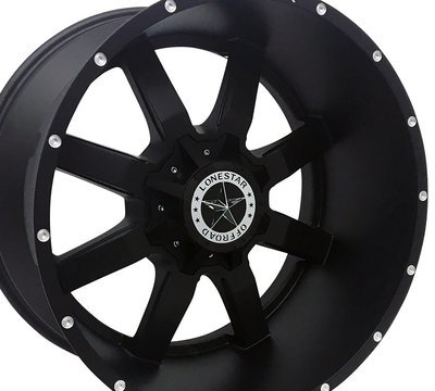 22x12 Matte Black Gunslinger Wheel, 8x6.5, Dodge Ram & Chevrolet 2500
