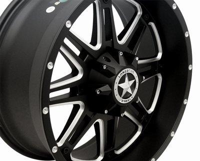 20x9 Matte Black Outlaw Wheel, 5x5.5 (5x139.7mm) 0mm Offset, Ram