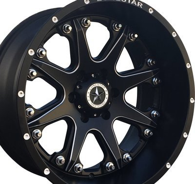 20x10 Matte Black Lonestar Bandit Wheels (4), 8x170mm -25mm Offset