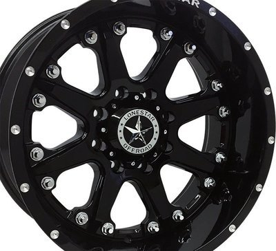 20x10 Gloss Black Lonestar Bandit Wheel, 8x170mm, Ford F250