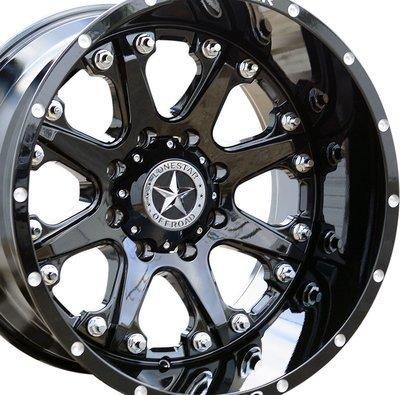 20x12 Gloss Black Lonestar Bandit Wheel, 8x6.5(8x165.1mm) -44mm Offset