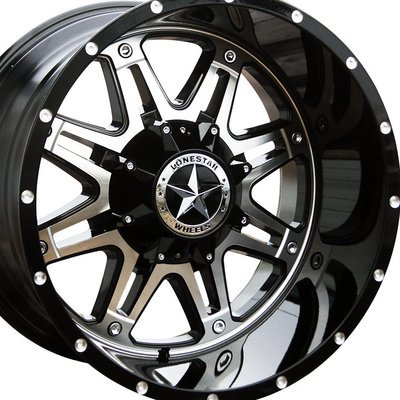 20x12 Gloss Black w/Mirror Face Outlaw Wheel, 8x6.5(8x165.1mm)