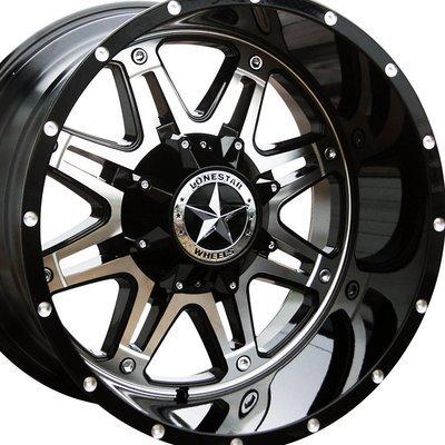 20x12 Gloss Black w/Mirror Face Outlaw Wheel, 6x5.5(6x139.7mm) & 6x135mm