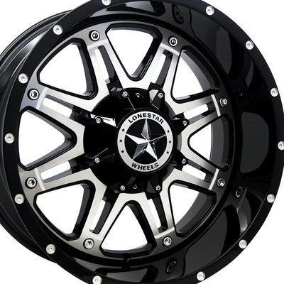 20x10 Gloss Black w/Mirror Face Outlaw Wheel, 8x170mm
