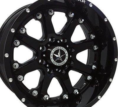 20x10 Gloss Black Bandit Wheel, 8x180, Chevy 8 lug