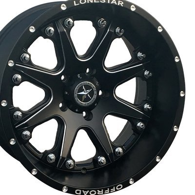 20x10 Matte Black Lonestar Bandit Wheel, 5x5.5mm, Ram 1500